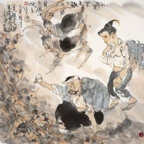 "45 Li Yang, ""Autumn Wind in September"", 68 x 68 cm, 2005"