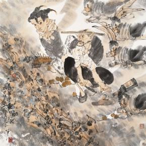 "46 Li Yang, ""Cool Autumn Wind in September"", 68 x 68 cm, 2006"