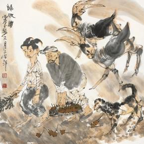 "49 Li Yang, ""Return from Herding Figure"", 68 x 68 cm, 2006"