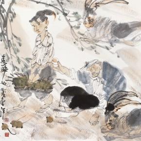 "52 Li Yang, ""Drunk in the Spring"", 68 x 68 cm, 2006"