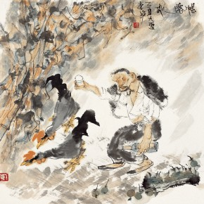 "54 Li Yang, ""The Carefree"", 68 x 68 cm, 2005"