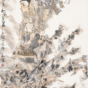 "55 Li Yang, ""Harvest the Autumn Figure"", 136 x 68 cm, 2005"