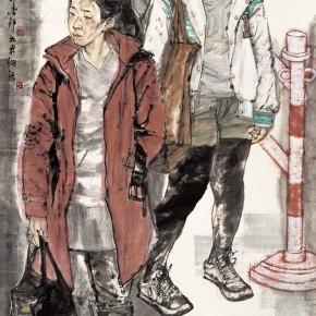 "59 Li Yang, ""Wandering"", 180 x 90 cm, 2009"