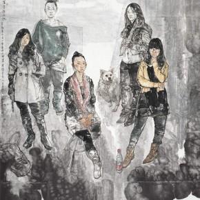 """60 Li Yang, """"Sketch is Work"""", 216 x 222 cm, 2012"""