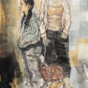"61 Li Yang, ""Hourly Workers"", 180 x 90 cm, 2007"