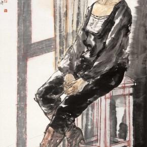 "65 Li Yang, ""The Setting Sun"", 180 x 96 cm, 2009"