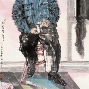 "66 Li Yang, ""The Property Administrator"", 180 x 96 cm, 2009"