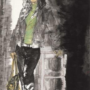 "67 Li Yang, ""The Marcel Girl"", 180 x 90 cm, 2008"