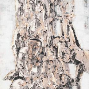"""68 Li Yang, """"Two Strong Men Figure"""", 136 x 68 cm, 2004"""