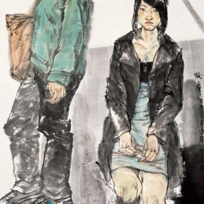 "69 Li Yang, ""Alienation"", 180 x 96 cm, 2009"