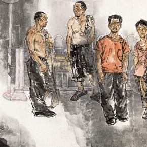 """70 Li Yang, """"The Market"""", 180 x 486 cm, 2010"""