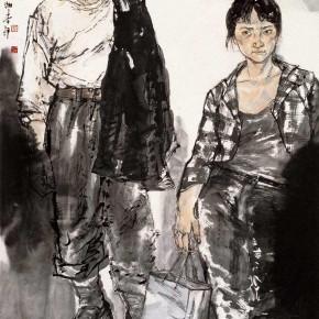 """71  Li Yang, """"The Pavement"""", 180 x 90 cm, 2009"""