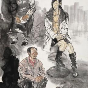 "72 Li Yang, ""The Family of Migrants"", 180 x 120 cm, 2012"