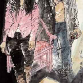 "74 Li Yang, ""The Sisters"", 180 x 96 cm, 2008"