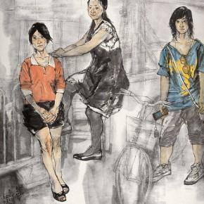 """76 Li Yang, """"The Season of Mix and Match"""", 180 x 160 cm, 2009"""