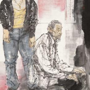 """77 Li Yang, """"The Studio"""", 180 x 96 cm, 2008"""