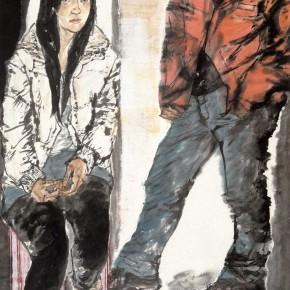 """81 Li Yang, """"The Winter Solstice"""", 180 x 96 cm, 2009品"""