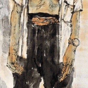 "87  Li Yang, ""The Marginal of the City No.1"", 180 x 45 cm, 2007"