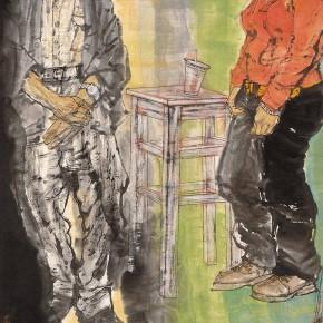 """88 Li Yang, """"The Marginal – At Noon Time"""", 180 x 90 cm, 2007"""