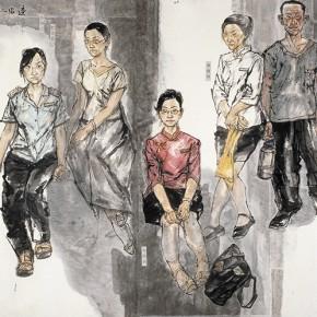 "90 Li Yang, ""The Marginal Characters – The Post-80s"", 180 x 45 cm, 2007"