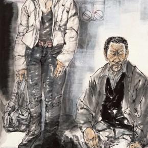 "92 Li Yang, ""The Marginal – Warm Winter"", 180 x 96 cm, 2008"
