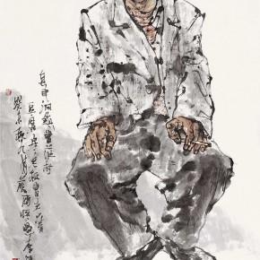 """93 Li Yang, """"Sketch of Zhenwudong Town"""", 136 x 68 cm, 2003"""