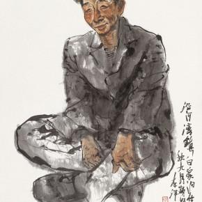"95 Li Yang, ""The Secretary of Yanhewan Village"", 136 x 68 cm, 2003"