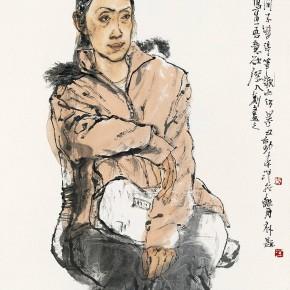 "98 Li Yang, ""The Girl from Shenyang"", 136 x 68 cm, 2004"
