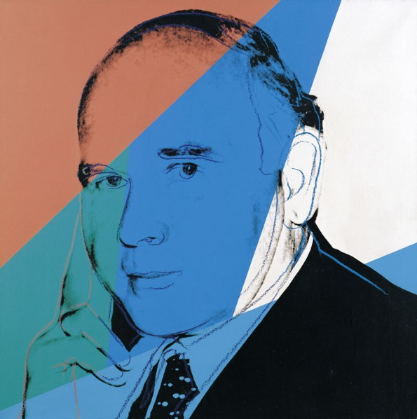 Andy Warhol, Portrait of Peter Ludwig, 1980, screen printing