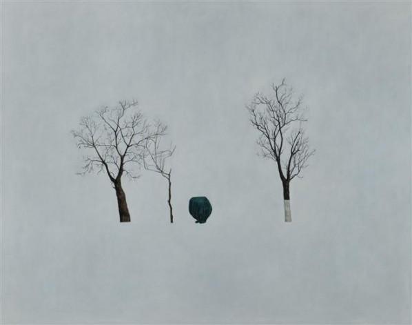 HU WENDAN - The Tree in Winter - oil on canvas - 2012