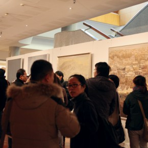"Installation view of the exhibition No.7 290x290 - ""Exhibition of the Selected Works by the Ethnic Minority Young Artists in Western China"" grandly opened at Yan Huang Art Museum"