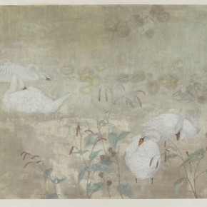 """Jiang Hongwei Light Rain into Clear Pool 2013 ink and color on paper 120×238cm 290x290 - The Hive Centre for Contemporary Art announces """"Variation: Contemporary Chinese Ink Art Series II"""" opening on December 20"""