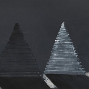 "Kang Haitao Tower of A Thousand Years 2011 Acrylic on paperboard 44x60cm 290x290 - ""Ge-Stell: Recent Works by Kang Haitao"" to be Presented at Lelege Art"
