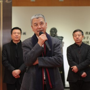 "Mr. Yin Huili Vice President of Minzu University of China addressed the opening ceremony 290x290 - ""Exhibition of the Selected Works by the Ethnic Minority Young Artists in Western China"" grandly opened at Yan Huang Art Museum"