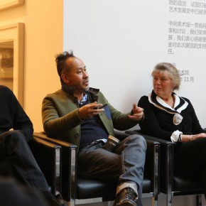 "One of the curators一Tomas Vu spoke at the seminar 290x290 - Research Exhibition ""Draw: Mapping Madness"" Opened at Inside-Out Art Museum in Beijing"