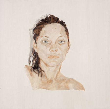 Wang Yingying, Marion Cotillard, 2013; Oil on canvas, 50x50cm