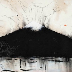 """Wei Qingji A Spring Morning of Fushi Mountain 2013 ink and wash mixed media on rice paper 70×136cm 290x290 - The Hive Centre for Contemporary Art announces """"Variation: Contemporary Chinese Ink Art Series II"""" opening on December 20"""
