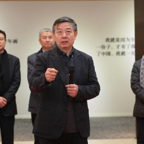 "Wu Changjiang Party Secretary of China Artists Association and Vice Chairman addressed the opening ceremony 290x290 - ""Exhibition of the Selected Works by the Ethnic Minority Young Artists in Western China"" grandly opened at Yan Huang Art Museum"