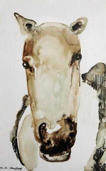 Zhan Yang, Portraiture of Horse, 2014; 36x58cm
