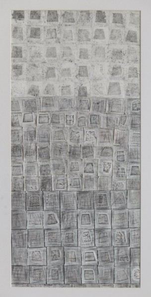 Zhu Xiaoqing, The Trapezium Game, 2014; Carbon on paper, 37cm×78cm