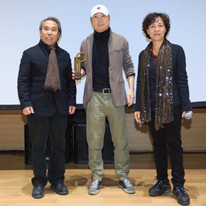 "2014 Agnès Varda's Award Issued by CAFA and Cui Jian won the ""Special Attention Prize"" for the ""Blue Bone"""