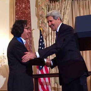 Xu Bing and Maya Lin Awarded the 2014 U.S. Department of State Medal of Arts by Secretary Kerry