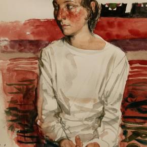 "02 Li Xiaolin, ""The Secondary Student Huxinama"", watercolor, 54 x 48 cm, 2011"