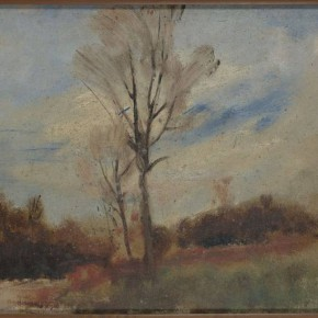 03 Auguste Rodin Beeches in the Forest of Soignes oil painting on cardboard 1871 1877 28.5 x 37 cm Rodin Museum in Paris P. 7222 290x290 - Rodin, l'oeuvre d'une vie Shown at the National Museum of China