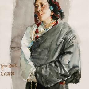 """03 Li Xiaolin, """"Zhanmazecuo"""", watercolor, 2011"""