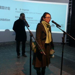"04 Geng Xue addressed the audience on behalf of the participating young artists 290x290 - Future Formula: Tracking Program of the 2nd ""CAFAM • Future"" Exhibition Opened at 798 Art Factory"