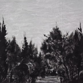 "04 Xu Jiacun ""The Black Trees No.3"" ink on paper 69 x 100 cm 2014 290x290 - The Press Conference of ""Image Study–The Logic of Presentation in the Wash and Ink Process"" Held at the Rightview Art Museum"