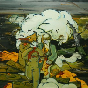 """05 Ding Wei Ancient Smog 2009 oil on canvas 215x160cm 290x290 - Yuan Art Museum presents """"His Kingdom–Paintings By Ding Wei From The Recent Decade"""""""