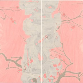 "05 Zhang Jian ""The Peach Garden"" color on silk 120 x 180 cm 2013 290x290 - The Press Conference of ""Image Study–The Logic of Presentation in the Wash and Ink Process"" Held at the Rightview Art Museum"