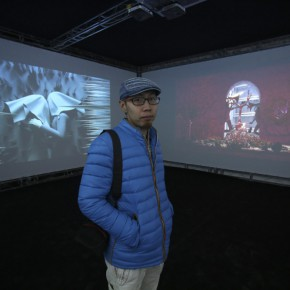 """07 Artist TianXiaolei and the work """"Poetry"""""""